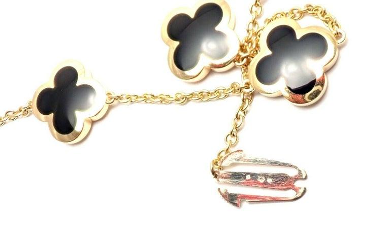 Van Cleef & Arpels Pure Alhambra Nine Motifs Black Onyx Necklace For Sale 2