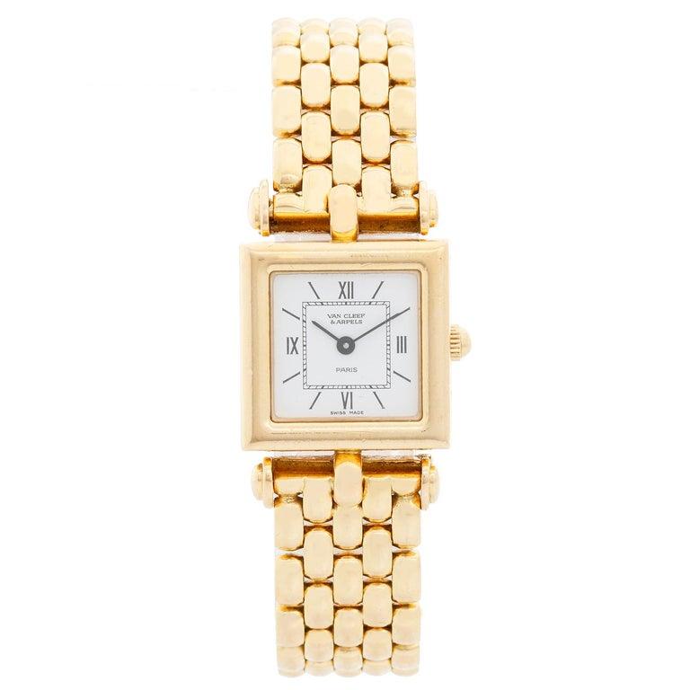 Van Cleef & Arpels Quartz Yellow Gold Watch Ref. 122664 For Sale