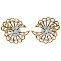 Van Cleef & Arpels Retro Diamond Ear Clips