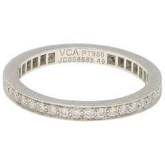 Van Cleef & Arpels Romance Full Eternity Ring in Platinum 0.20ct