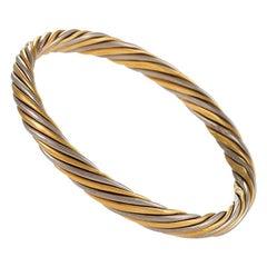 Van Cleef & Arpels Rope Twist Bi-Color Gold Bangle