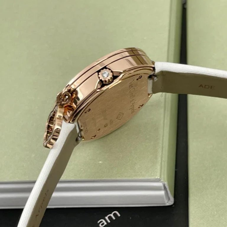 Van Cleef & Arpels Rose Gold Charm Diamond Watches VCARO29700 For Sale 1