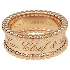 Van Cleef & Arpels Rose Gold Perlée Ring