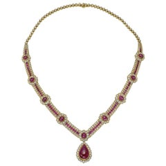 Van Cleef & Arpels Ruby and Diamond Centerpiece Necklace