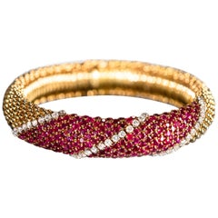 "Van Cleef & Arpels Ruby and Diamond ""Pelouse"" Bracelet"
