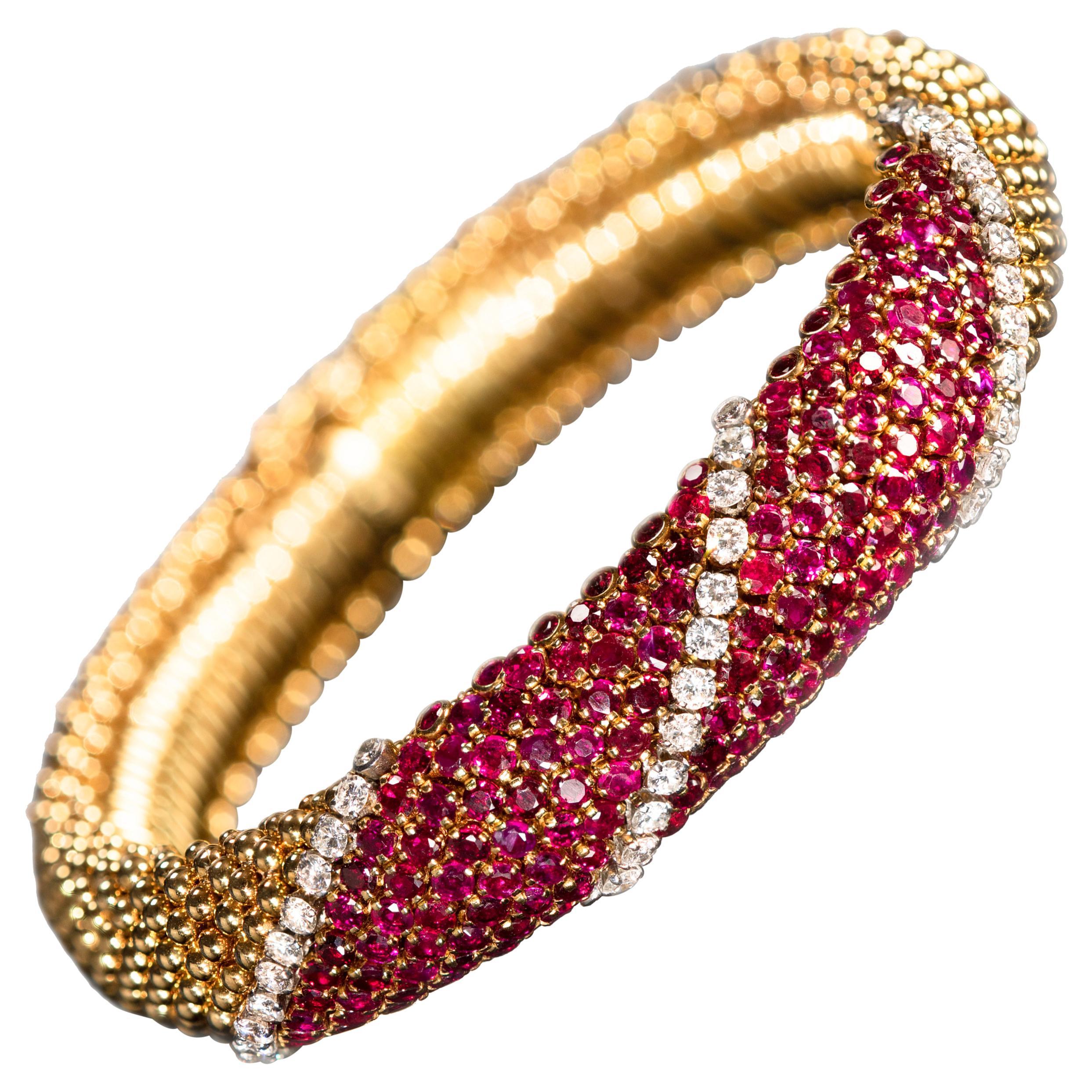 """Van Cleef & Arpels Ruby and Diamond """"Pelouse"""" Bracelet"""