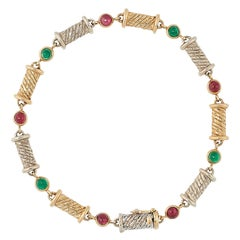 Van Cleef & Arpels Ruby and Emerald Bracelet