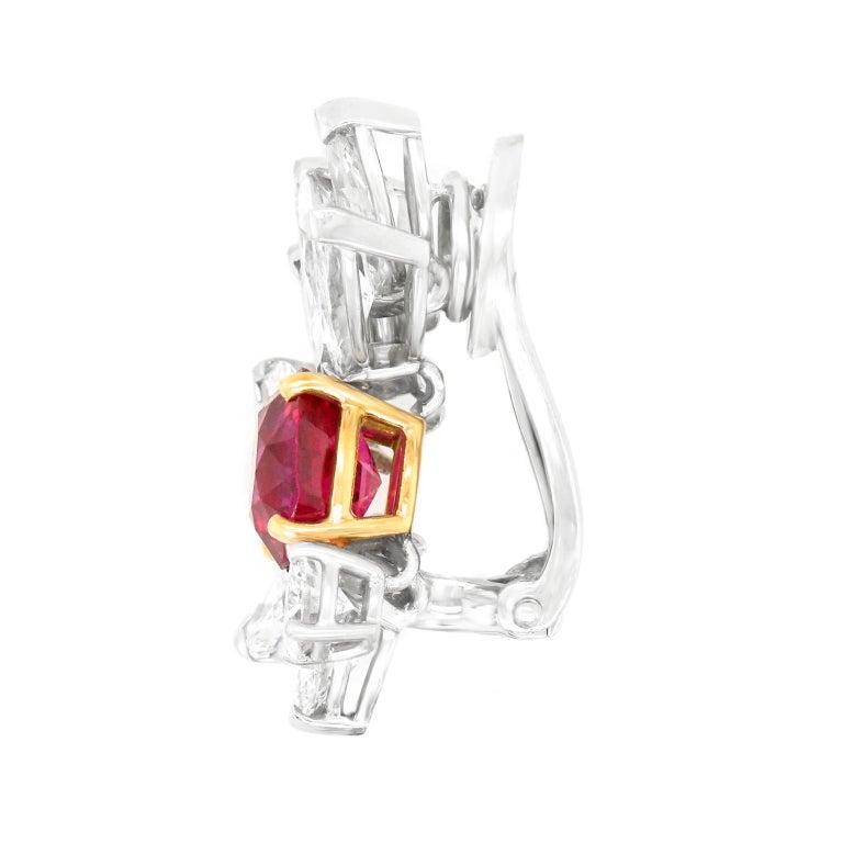 Van Cleef & Arpels Ruby & Diamond Earrings GIA No Heat Burma For Sale 2