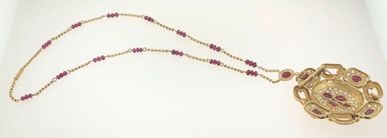 Van Cleef & Arpels Ruby and Diamond Pendant and Necklace Set For Sale 3