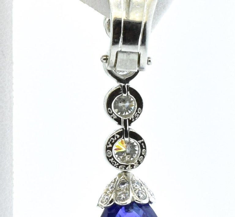 Contemporary Van Cleef & Arpels Sapphire and Diamond Earrings