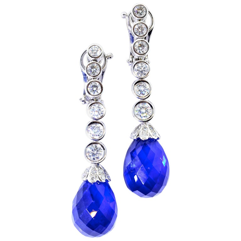 Van Cleef & Arpels Sapphire and Diamond Earrings