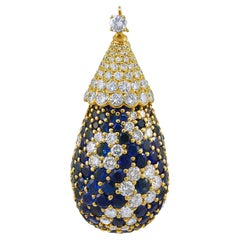 Van Cleef & Arpels Sapphire and Diamond Pendant