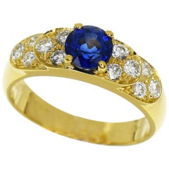 Van Cleef & Arpels Sapphire Diamond 18 Yellow Gold Ring