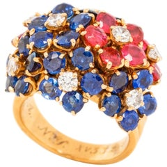 Van Cleef & Arpels Sapphire Ruby and Diamond Ring