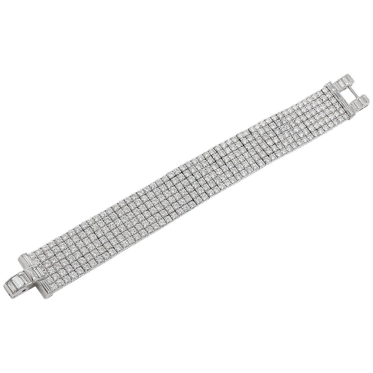 Van Cleef & Arpels Six-Row Diamond Bracelet