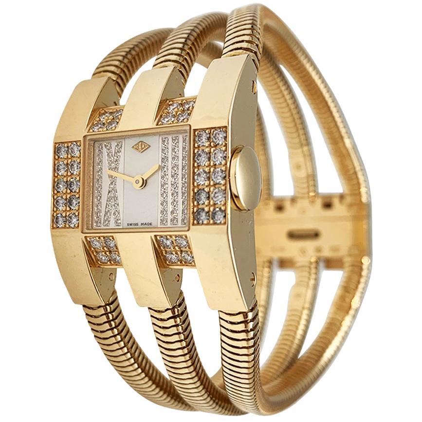 Van Cleef & Arpels Snake Watch, Yellow Gold and Diamonds