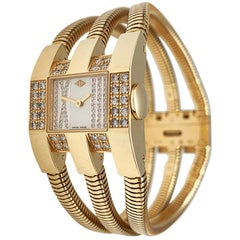 Van Cleef & Arpels Snake Watch, Yellow Gold and Diamonds