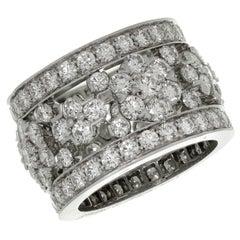 Van Cleef & Arpels Snowflake Diamond Platinum Ring Box Papers. Sz EU 52 - US 6