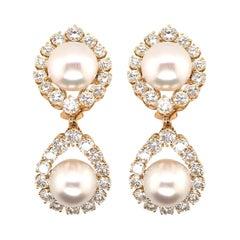 Van Cleef & Arpels South Sea Pearl and Diamond Earrings