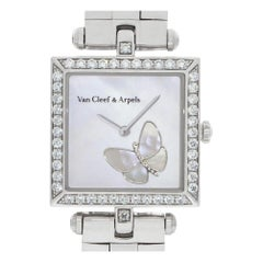 Van Cleef & Arpels Square Papillon HH22989, White Dial, Certified