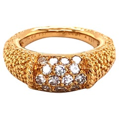 Van Cleef & Arpels Stacking Philippine Ring, Diamonds, Yellow Gold