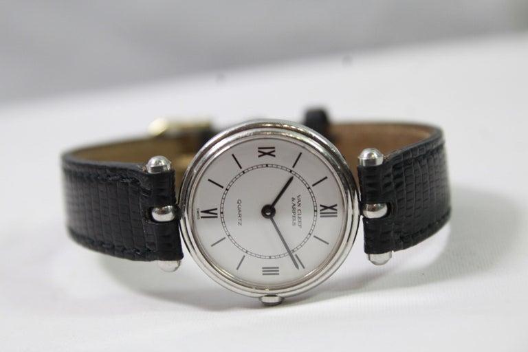 Van Cleef & Arpels Stainless Steel Vintage Ladies Watch In Good Condition For Sale In Paris, FR