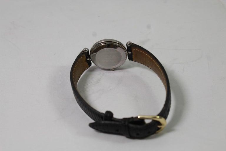 Women's Van Cleef & Arpels Stainless Steel Vintage Ladies Watch For Sale