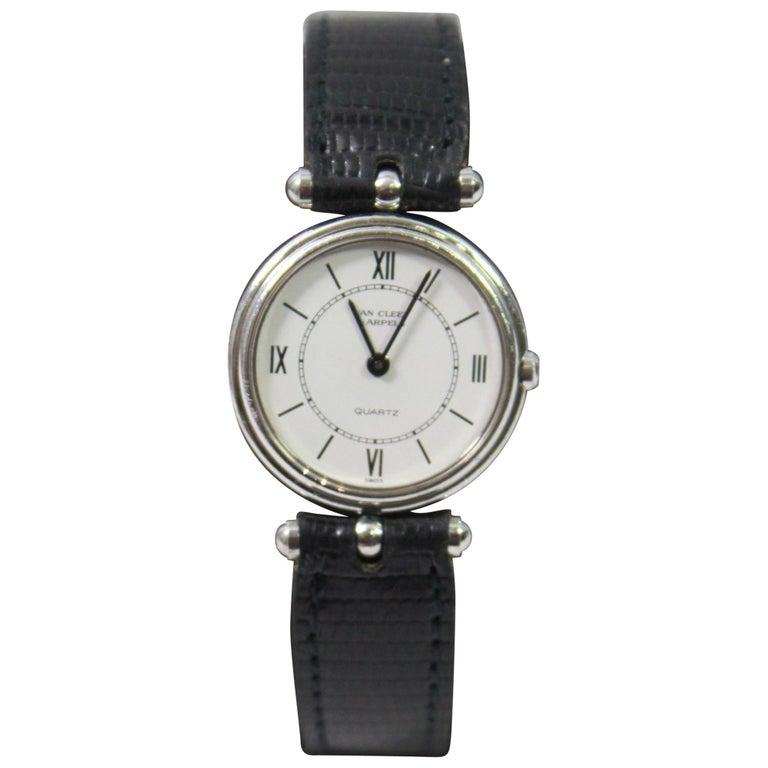 Van Cleef & Arpels Stainless Steel Vintage Ladies Watch For Sale
