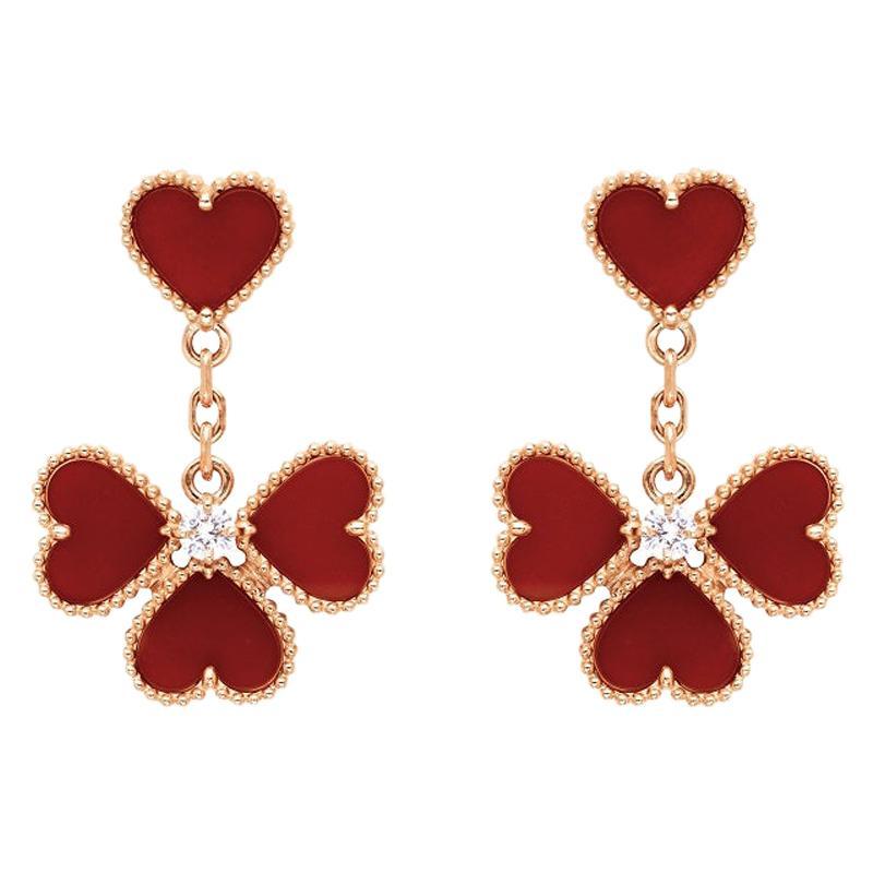 Van Cleef & Arpels Sweet Alhambra Effeuillage Earrings APN5PP00