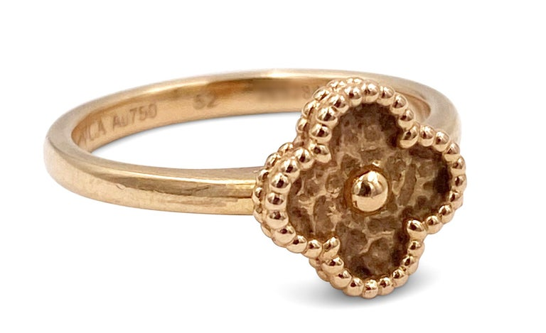 Women's Van Cleef & Arpels Sweet Alhambra Rose Gold Ring For Sale