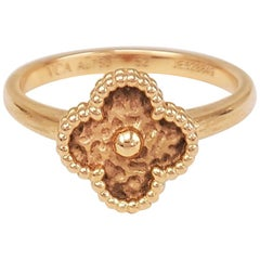 Van Cleef & Arpels Sweet Alhambra Rose Gold Ring