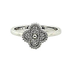 Van Cleef & Arpels Sweet Alhambra White Gold Diamond Ring