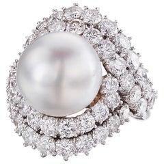 Van Cleef & Arpels Tahitian Pearl and Diamond Ring