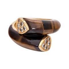 Van Cleef & Arpels Tiger's Eye & Diamond Ring