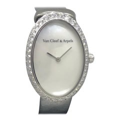 Van Cleef & Arpels Timeless Watch White Gold and Diamond Ladies WJWF01I9 New