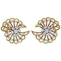 Van Cleef & Arpels Tourbillons Filigree Diamond Earrings
