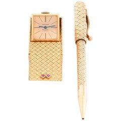 Van Cleef & Arpels Travel Clock and Pen Set