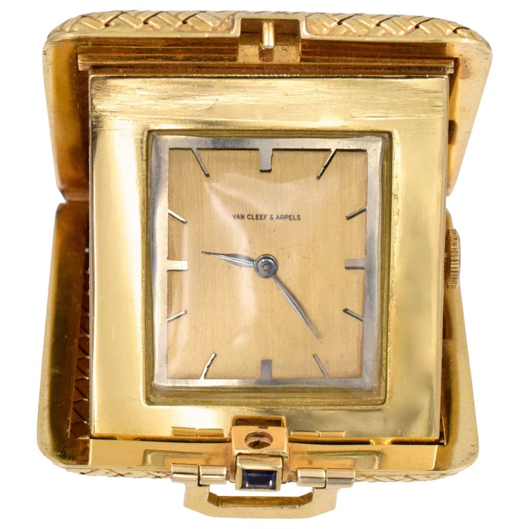 Van Cleef & Arpels Travel Clock For Sale