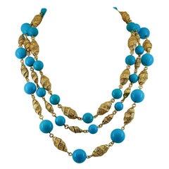 Van Cleef & Arpels Turquoise Beads Sautoir Necklace