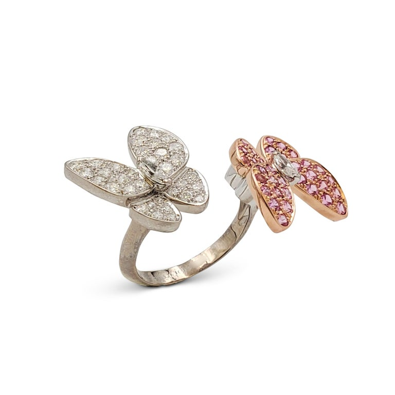Women's or Men's Van Cleef & Arpels 'Two Butterfly' Between-the-Finger Ring For Sale