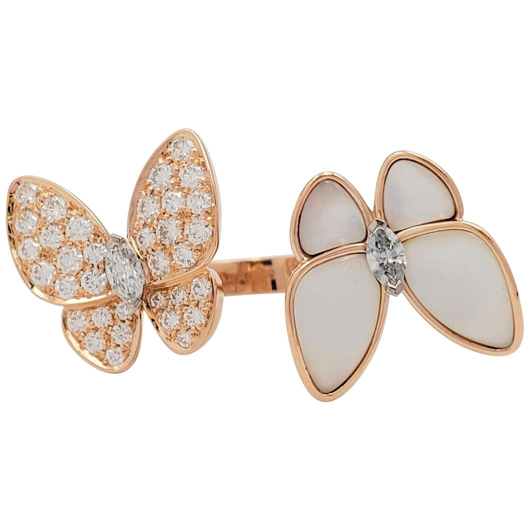 Van Cleef & Arpels 'Two Butterfly' Between-the-Finger Ring