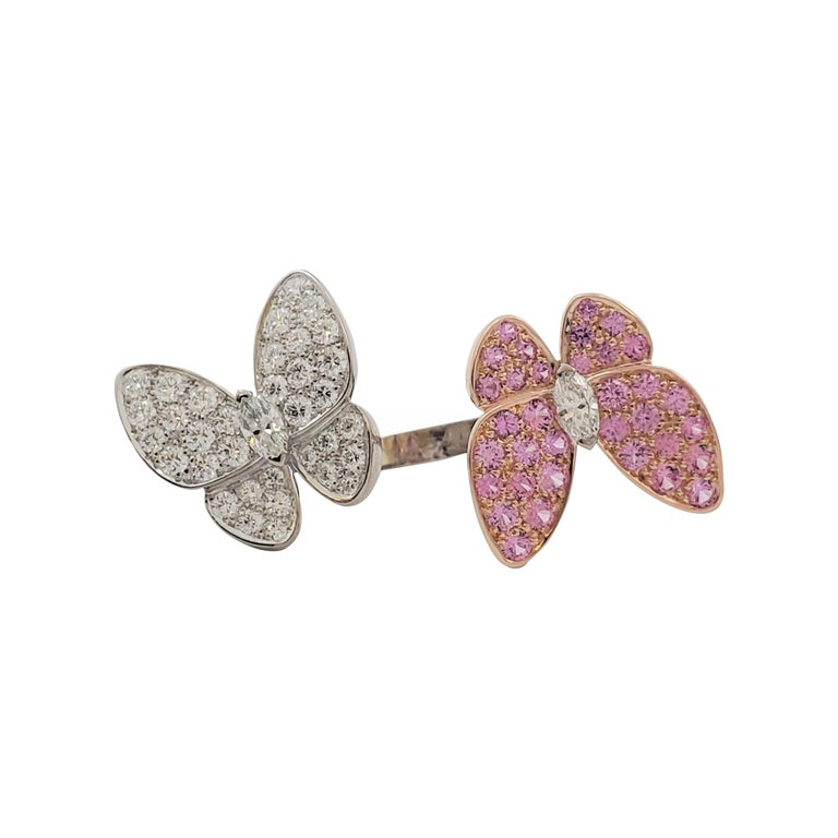 Van Cleef & Arpels 'Two Butterfly' Between-the-Finger Ring For Sale