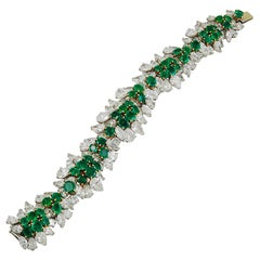 Van Cleef & Arpels Two-Tone Diamond, Emerald Bracelet