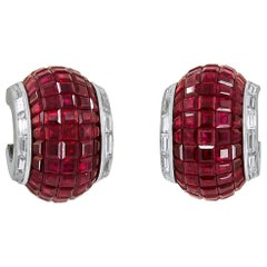 Van Cleef & Arpels Mystery Set™ Ruby Half Hoop Earrings
