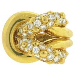 Van Cleef & Arpels VCA 1.20 Carat Diamond Knot Ring