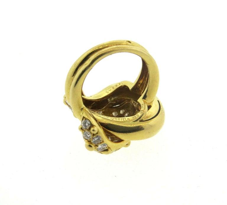 Van Cleef & Arpels VCA 1.20 Carat Diamond Knot Ring For Sale 1