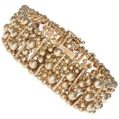 Van Cleef & Arpels Vintage 14 Karat Gold Watch Bracelet
