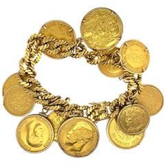 Van Cleef & Arpels Vintage 18 Karat Gold Coin Bracelet