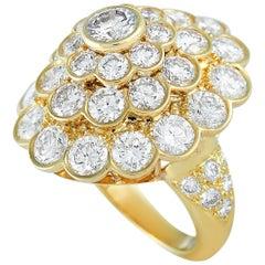 Van Cleef & Arpels Vintage 18 Karat Yellow Gold 6.50 Carat Diamond Cocktail Ring