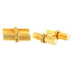 Van Cleef & Arpels Vintage 18 Karat Yellow Gold Cufflinks